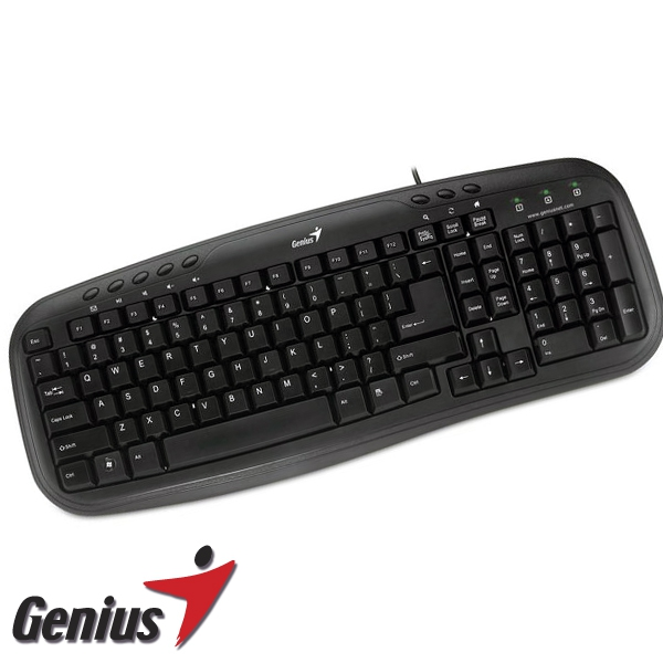 Teclado Multimedia | GENIUS KB-M200 Black PS2/SP